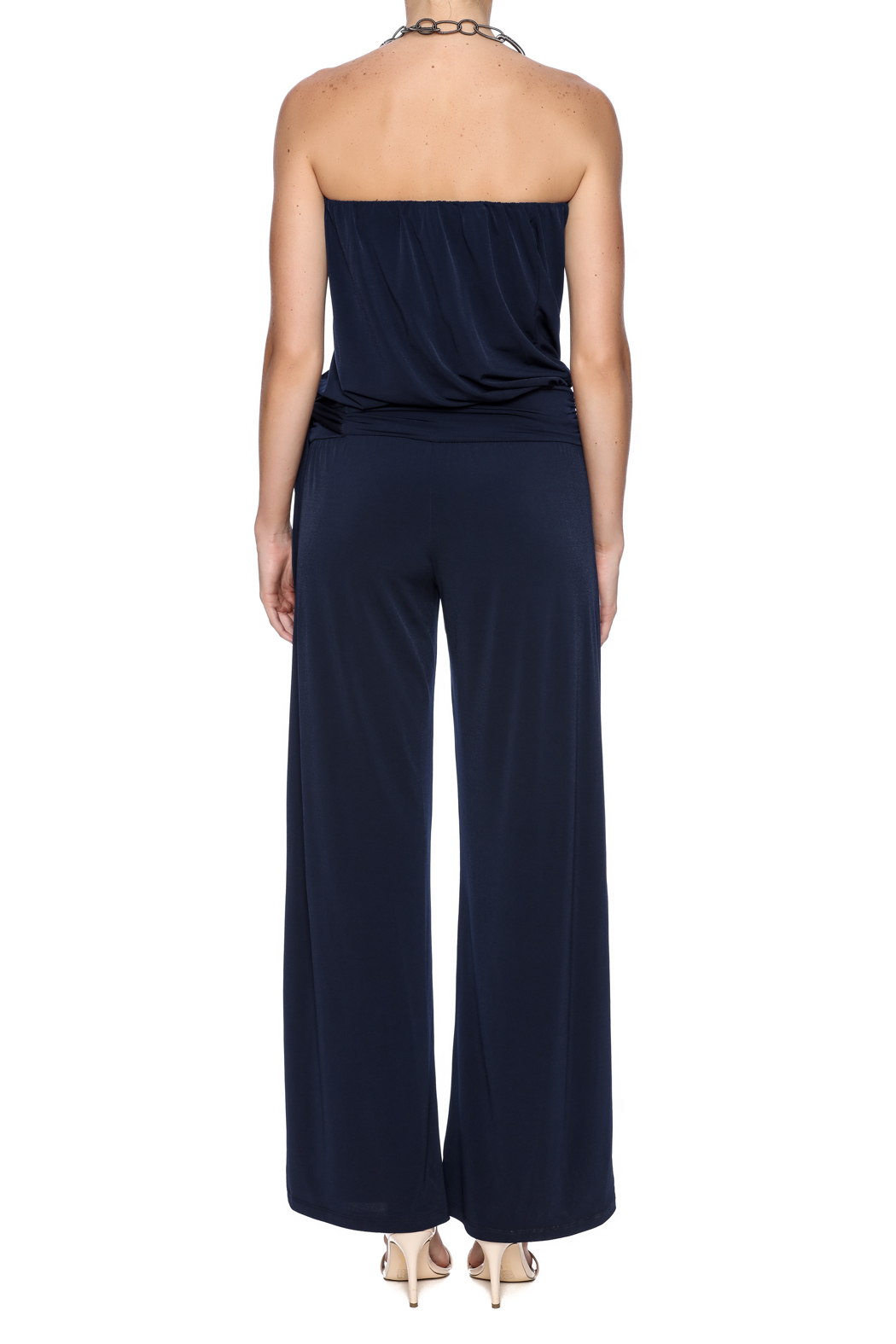 Veronica M Navy Jumpsuit - Back Cropped Image