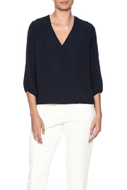 Veronica M Navy Surplice Blouse - Product Mini Image