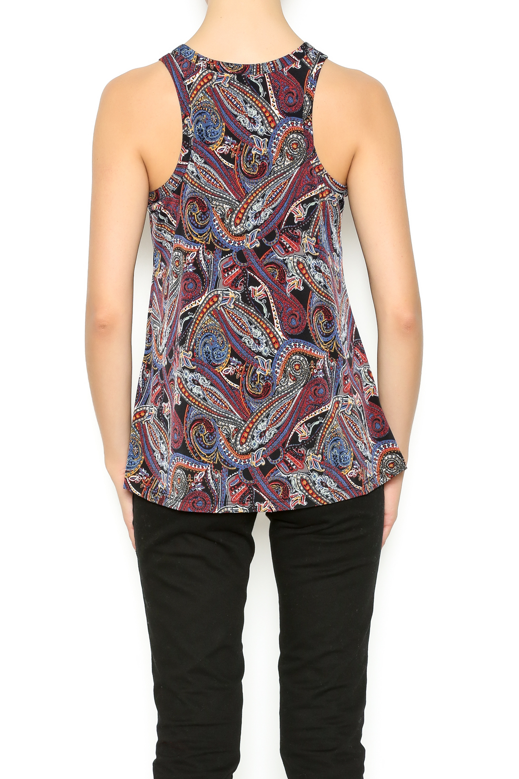 Veronica M Paisley Printed Tank - Back Cropped Image