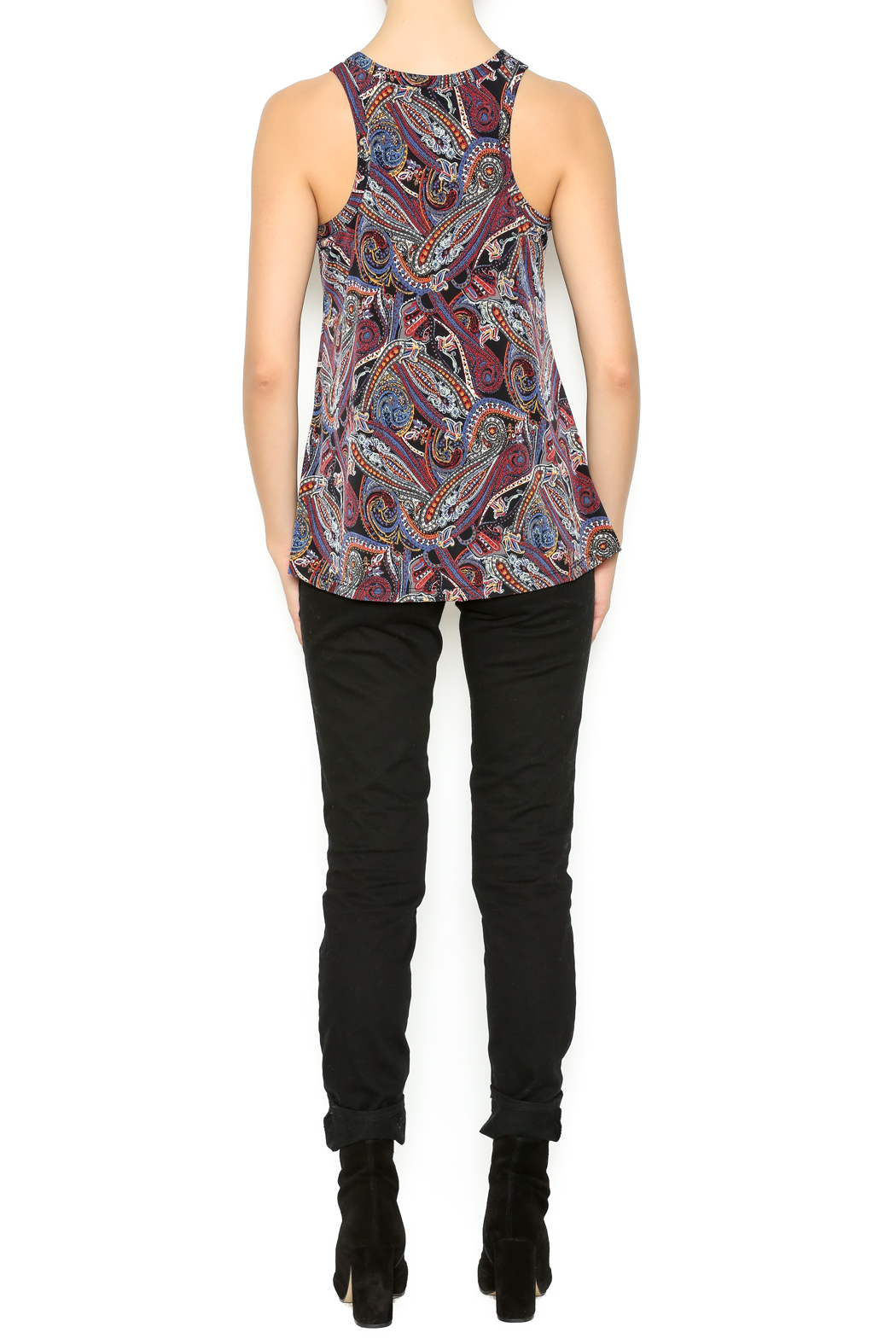 Veronica M Paisley Printed Tank - Side Cropped Image