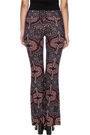 Veronica M Print Flare Pant - Back cropped