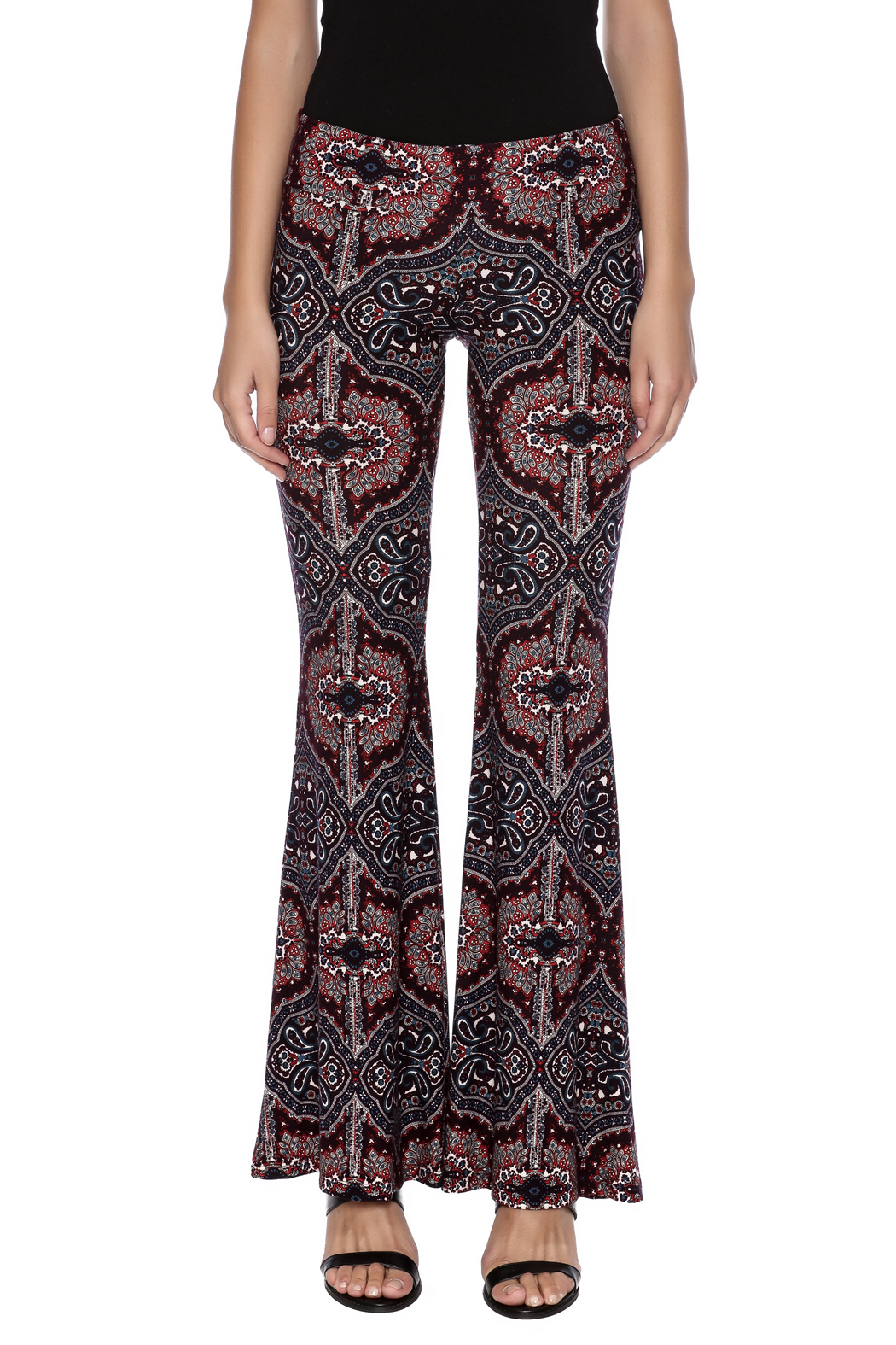 Veronica M Print Flare Pant - Side Cropped Image