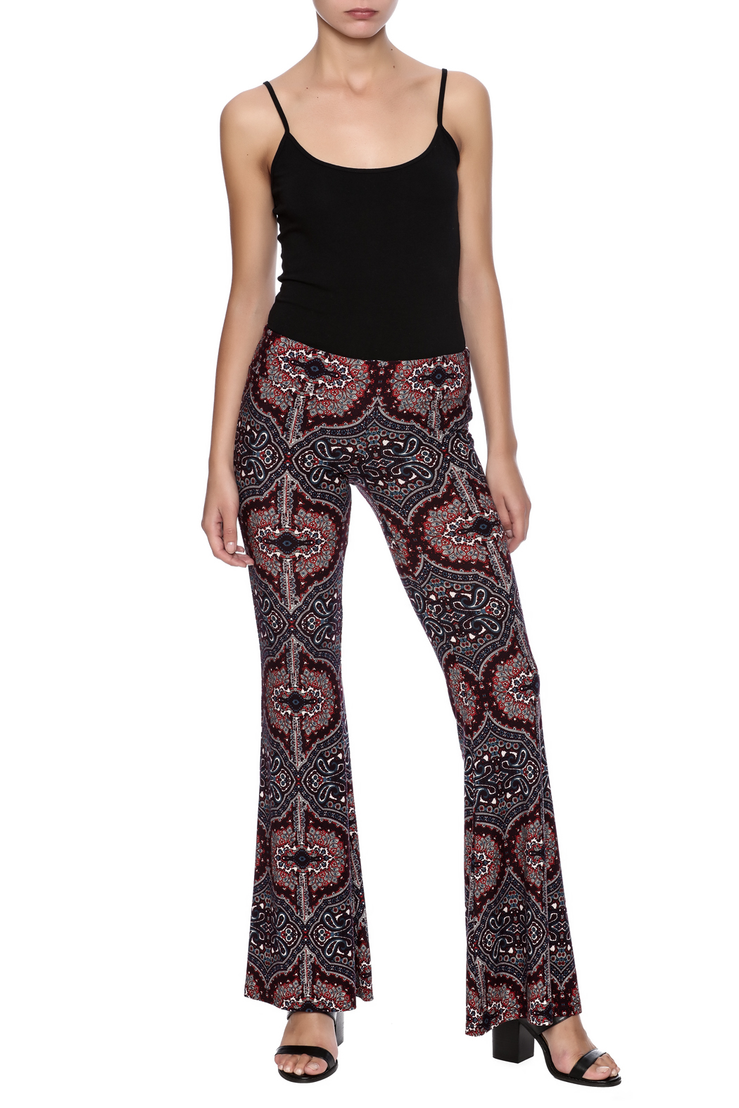 Veronica M Print Flare Pant - Front Full Image
