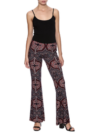 Veronica M Print Flare Pant - Front full body