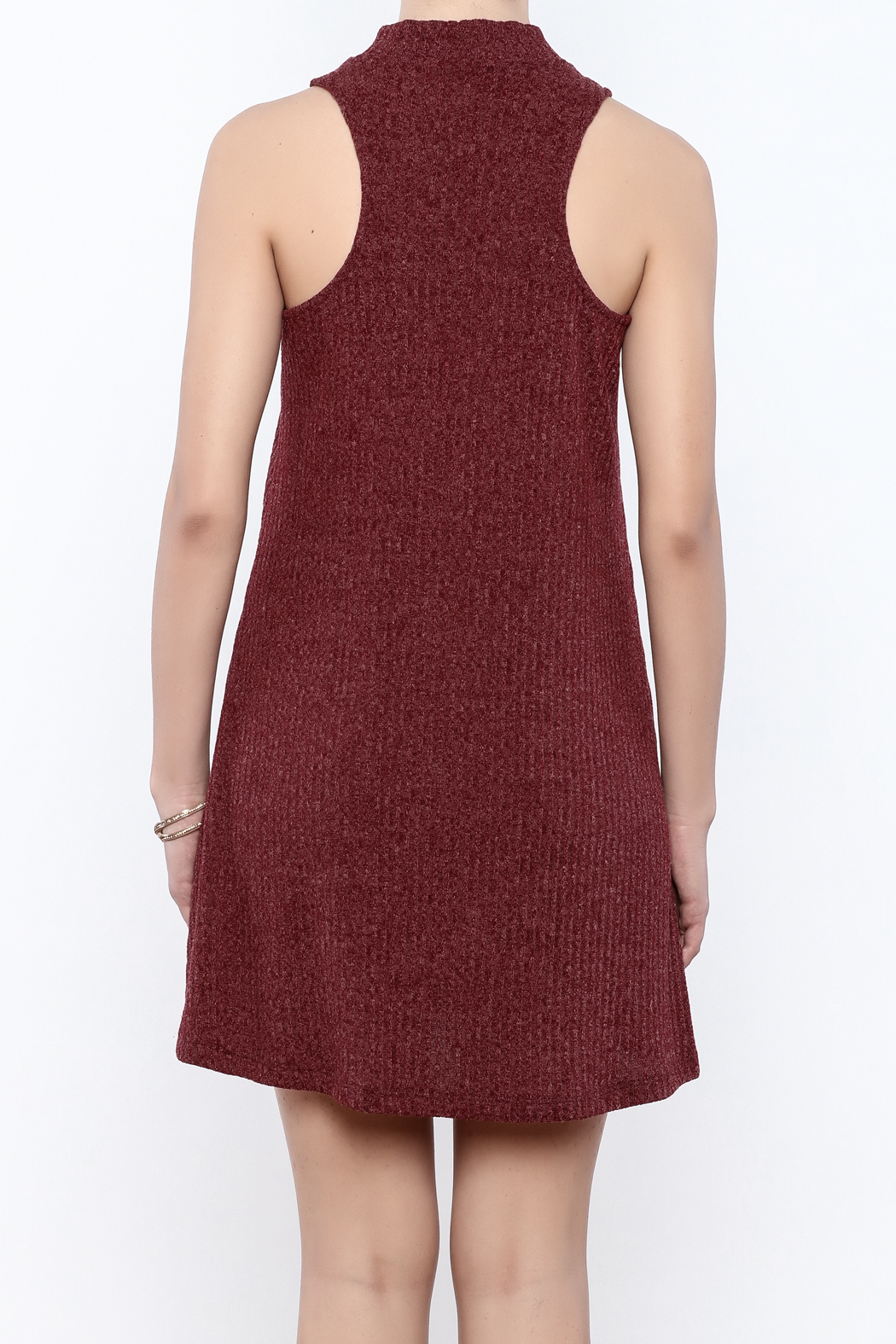 Veronica M Sleeveless Sweater Dress - Back Cropped Image