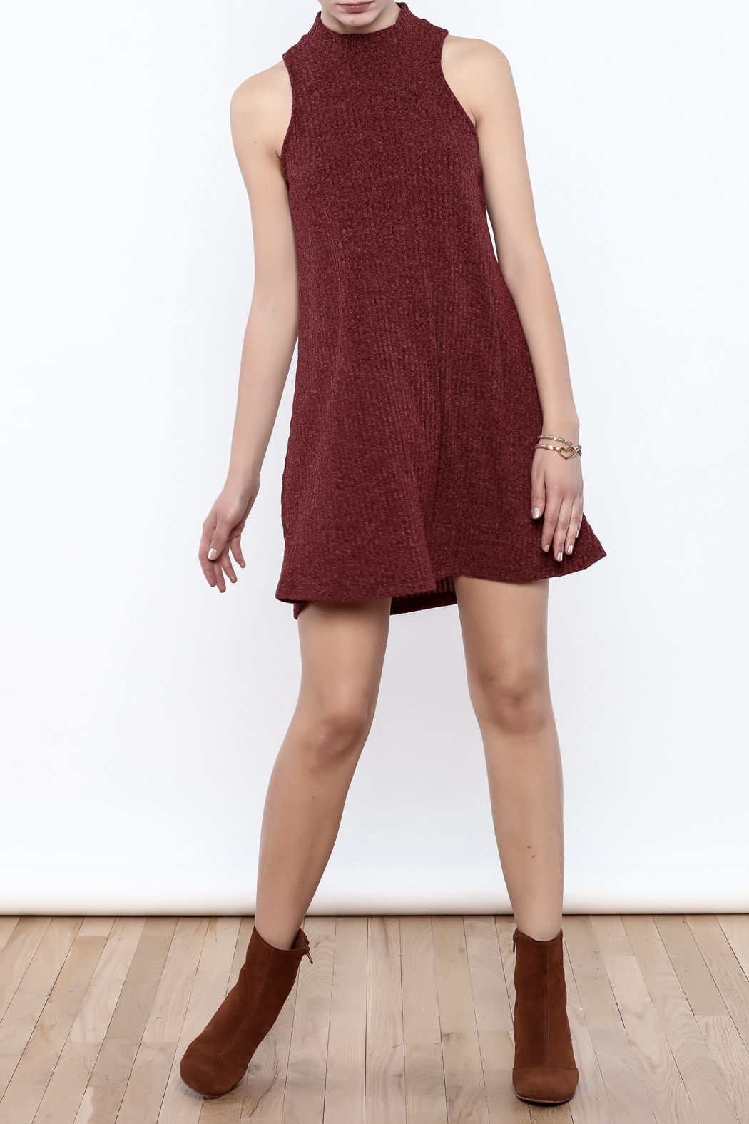 Veronica M Sleeveless Sweater Dress - Front Full Image