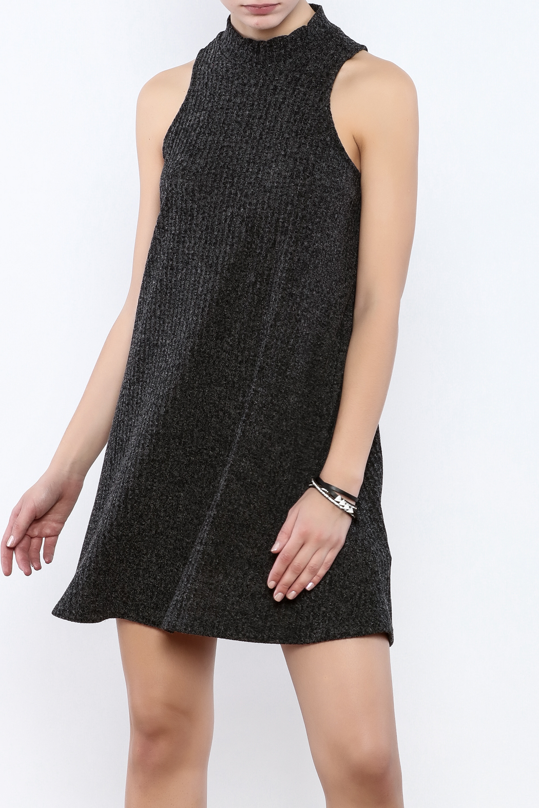 Veronica M Sleeveless Sweater Dress - Front Cropped Image