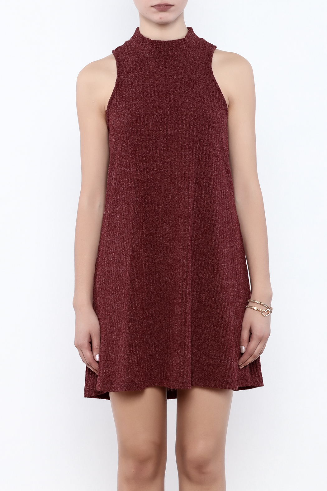 Veronica M Sleeveless Sweater Dress - Side Cropped Image