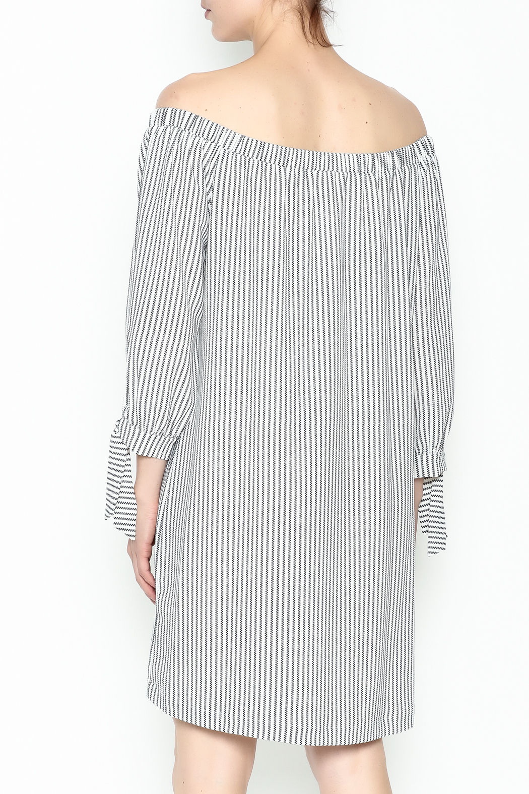 Veronica M Tatiana Striped Dress - Back Cropped Image