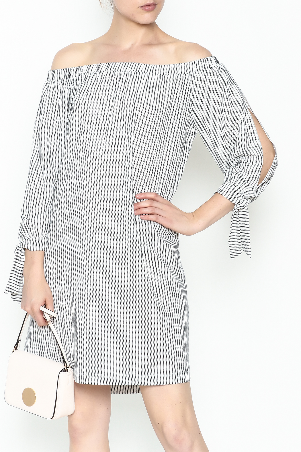 Veronica M Tatiana Striped Dress - Main Image