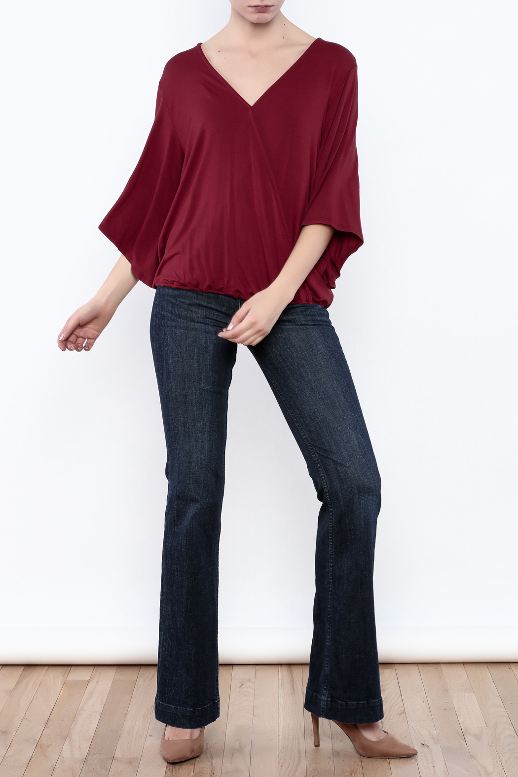 Veronica M Versatile Surplus Top - Front Full Image