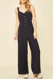 Compendium boutique Veronica Navy Jumpsuit - Product Mini Image