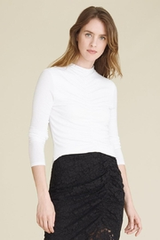 Veronica Beard Theresa Turtleneck White - Front cropped