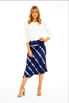 Veronica M Asymmetrical Tie-Dye Skirt - Alternate List Image
