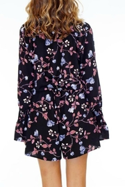 Veronica M Black Floral Romper - Front full body