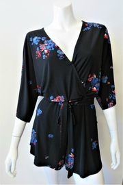 Veronica M Black Floral Veronica - Front cropped