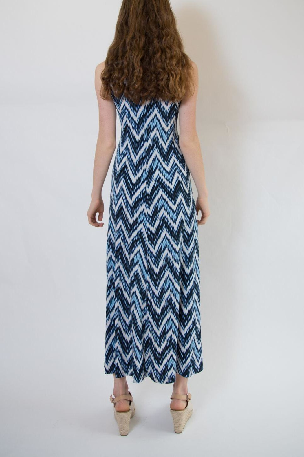 Veronica M Blue Multi Maxi Dress - Side Cropped Image