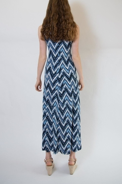 Veronica M Blue Multi Maxi Dress - Alternate List Image