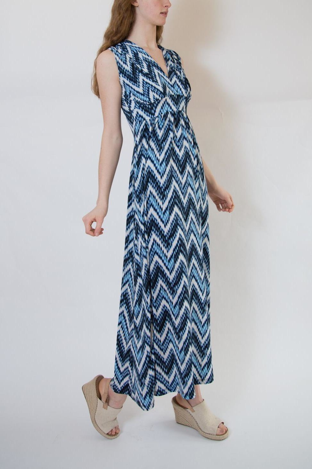Veronica M Blue Multi Maxi Dress - Main Image