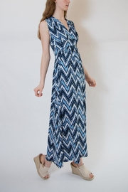 Veronica M Blue Multi Maxi Dress - Front cropped