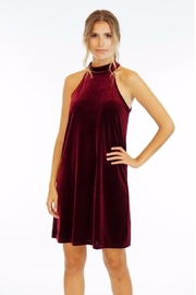 Veronica M Burgundy Velvet Dress - Product Mini Image