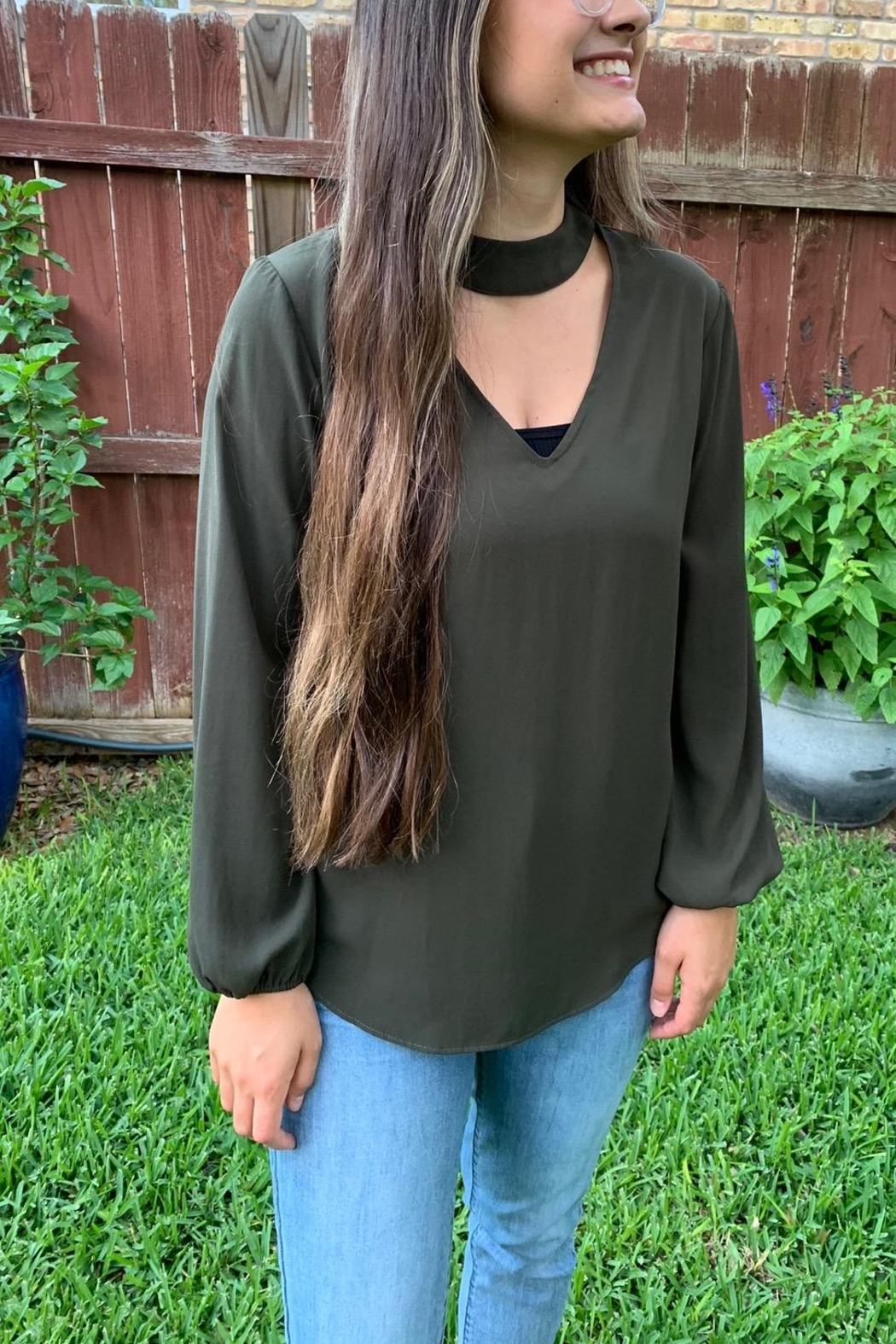 Veronica M Classic Choker Collar Blouse - Front Cropped Image
