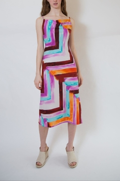 Veronica M Colorful Block Midi Dress - Product List Image