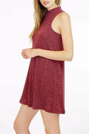 Veronica M High Neck Ribbed Sweater Dress - Front full body