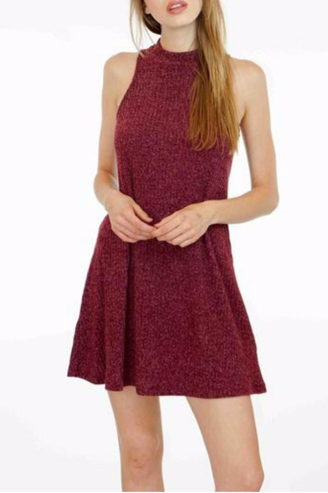 Veronica M High Neck Ribbed Sweater Dress - Main Image