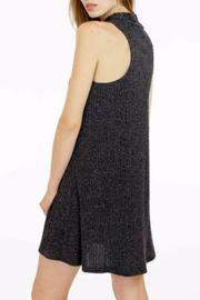 Veronica M High Neck Ribbed Sweater Dress - Side cropped