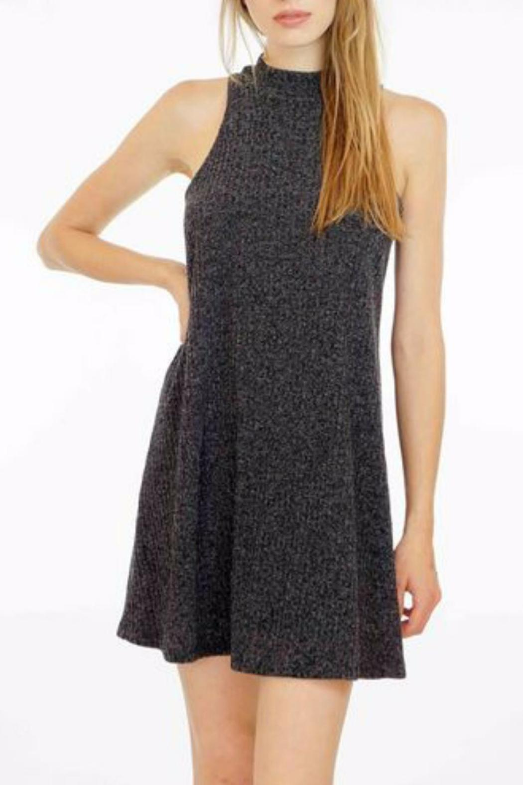 Veronica M High Neck Ribbed Sweater Dress - Front Cropped Image