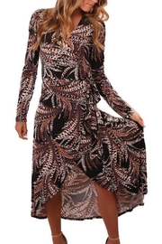 Veronica M Pattern Wrap Dress - Product Mini Image