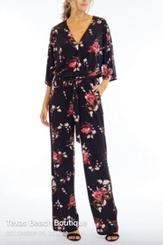 Veronica M Rose Print Jumpsuit - Front cropped