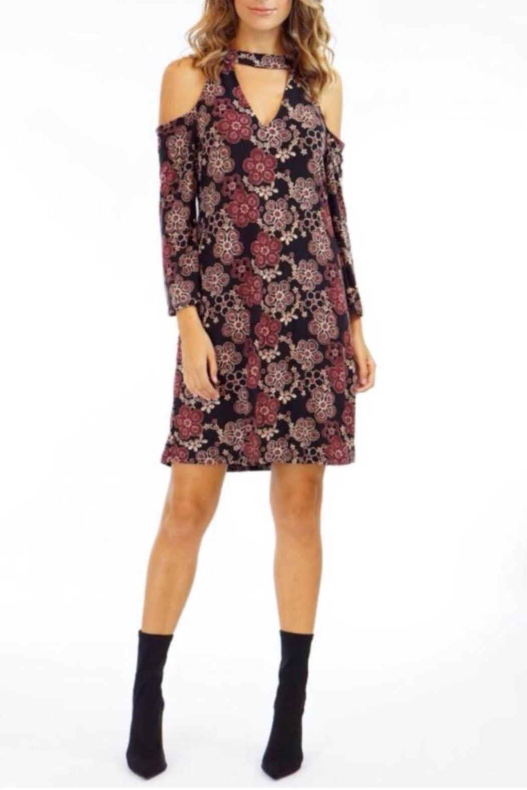 Veronica M Rust Floral-Print Dress - Main Image