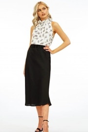 Veronica M Satin Midi Skirt - Front cropped