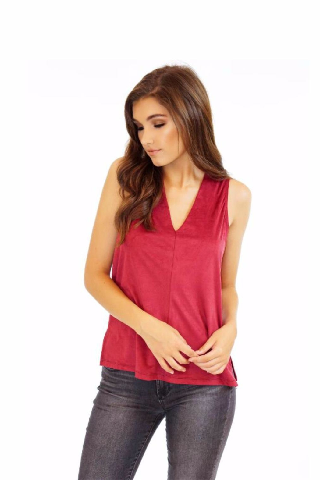 Veronica M Sueded Sleeveless Top - Main Image