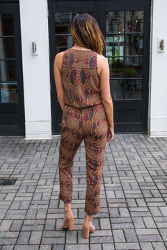 Veronica M Sleeveless Print Jumpsuit - Alternate List Image