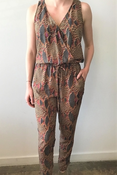 Veronica M Sleeveless Print Jumpsuit - Product List Image