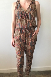 Veronica M Sleeveless Print Jumpsuit - Front cropped