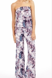 Veronica M Strapless Print Jumpsuit - Front cropped