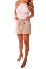 Veronica M Smocked Linen Shorts - Front cropped