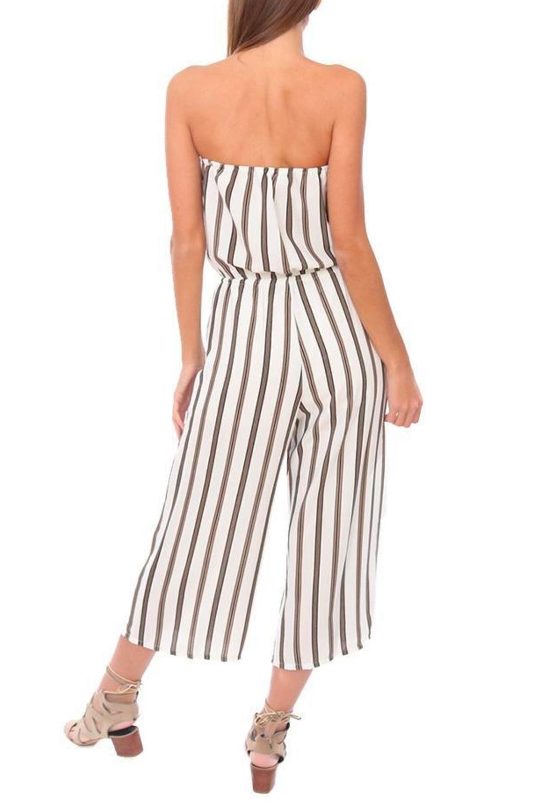 Veronica M Strapless Culotte Jumpsuit - Side Cropped Image