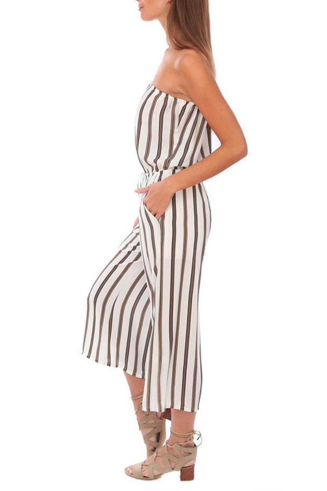 Veronica M Strapless Culotte Jumpsuit - Front Full Image
