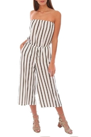 Veronica M Strapless Culotte Jumpsuit - Front cropped