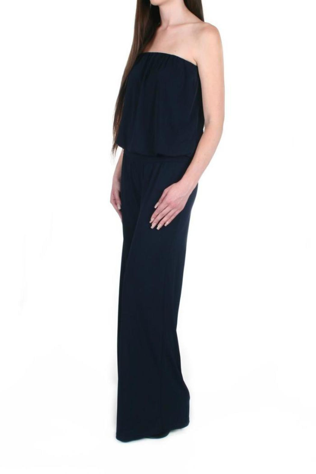 Veronica M Strapless Wide Leg Jumpsuit From New Jersey By Alba Front Full Image