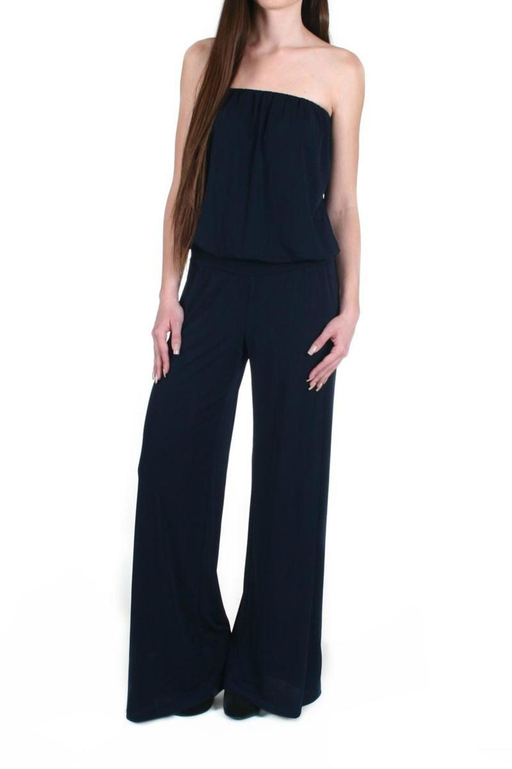 4bbeb0a92a1 Veronica M Strapless Wide-Leg Jumpsuit from New Jersey by alba ...