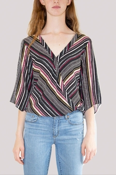 Veronica M Striped V-Neck Blouse - Product List Image