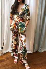 Veronica M Tropical Print Jumpsuit - Product Mini Image
