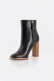 Veronique Branquinho Black Heeled Bootie - Front cropped