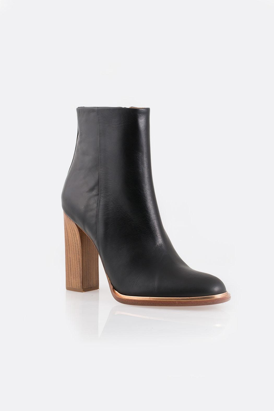 Veronique Branquinho Black Heeled Bootie - Side Cropped Image